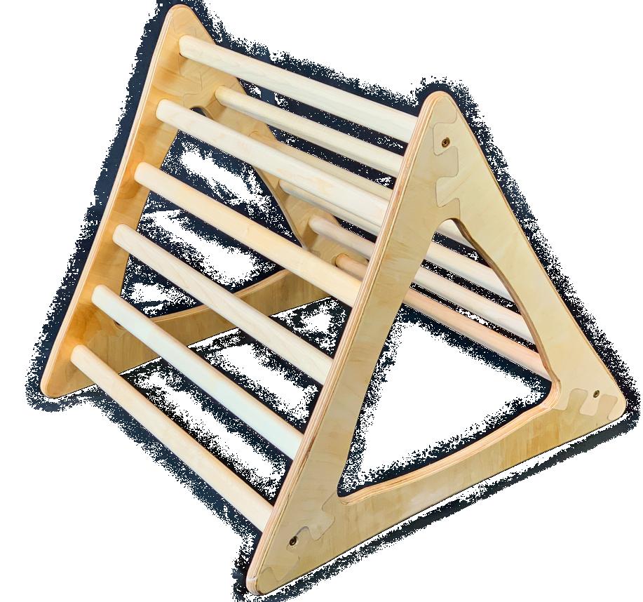 Pikler 3er Kombination Set Dreieck+Bogen+Rutschbett